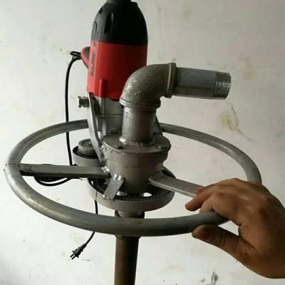厂家直销1.2 1.5KW手持式钻井机 农田浇灌用打井机 工程搅拌站专用打井机