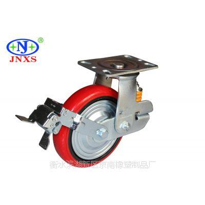 脚轮厂家直销 京南橡塑 10寸万向减震轮重型脚轮铁心PU韩式轮周转车脚轮工业轮子减震轮