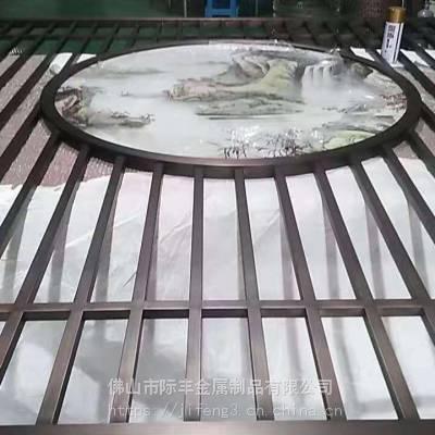 不锈钢金属屏风酒店装饰批发代理
