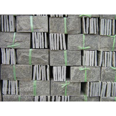 石屹供应天然绿石英蘑菇石绿色文化石外墙砖