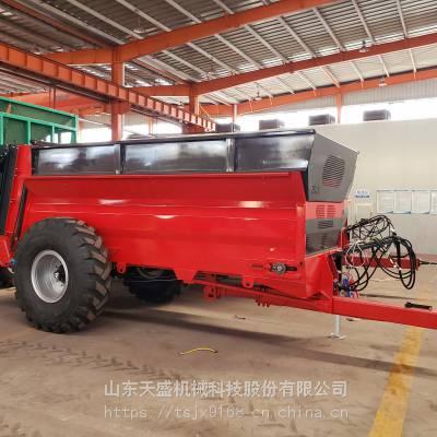 新款大型农家肥撒肥车供应撒粪车厂家天盛机械
