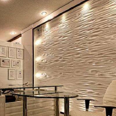 专业雕刻定制洽淡室背景墙立体波浪板装饰板