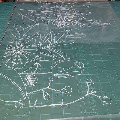 UV彩白彩玻璃贴节日氛围橱窗贴纸个性定制厂家直销