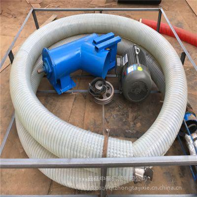 16CM管径定制吸粮机 耐磨损软管抽料机 家用橡胶管电动上料机