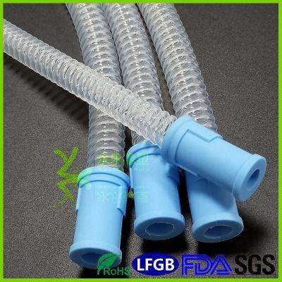 永乐供应高透波纹硅胶管 硅胶波纹管 耐弯曲不打结 呼吸回路导流螺纹弯管
