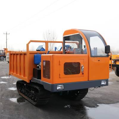 广东水田履带运输车 戈壁拉混凝土履带翻斗车价格 履带式拖拉机图片