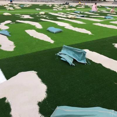贺州人造草足球场施工完毕_广西新国标人造草足球场又一力作