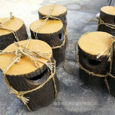 东营市中达建材厂家出售景观户外围树凳 靠背椅 水泥仿木果皮箱