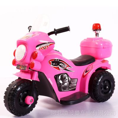 厂家直销哈雷电动摩托车 音乐闪光儿童小摩托车 一件代发电动车