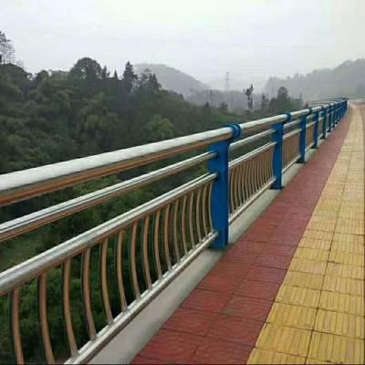 四川不銹鋼橋梁防護欄廠家景區公園不銹鋼欄桿過街天橋復合管護欄