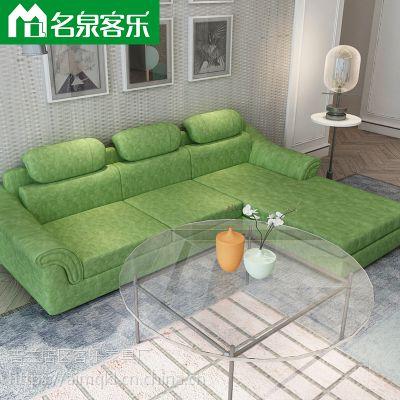 大连软包家具CPU08客厅简约组合科技布沙发大连家具工厂直销
