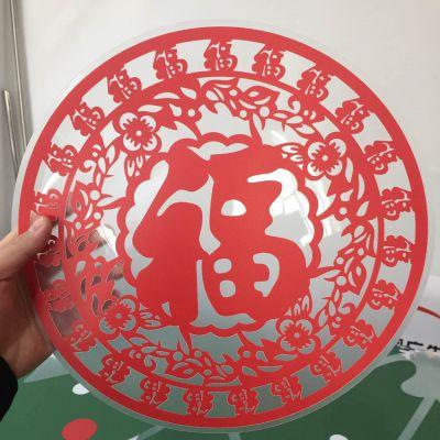 深圳厂家供应彩白UV超透橱窗玻璃贴高清喷绘制作
