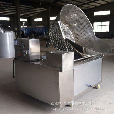 诸城神州供应电加热自动出料方型油炸锅 面食类油炸设备