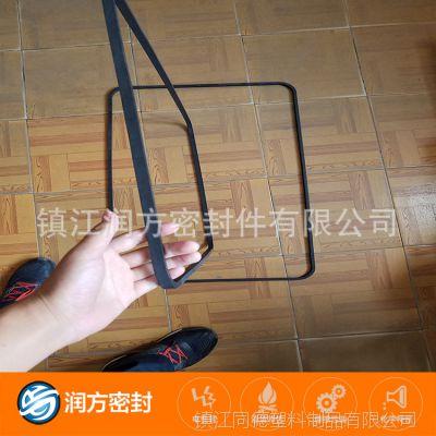 承接加工定制:较耐磨聚四氟乙烯PTFE填充碳纤维的方形垫圈 垫片