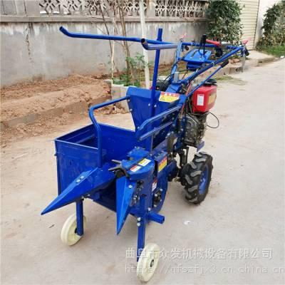 手推式玉米收割机 农用掰棒子机 柴油苞米收获机