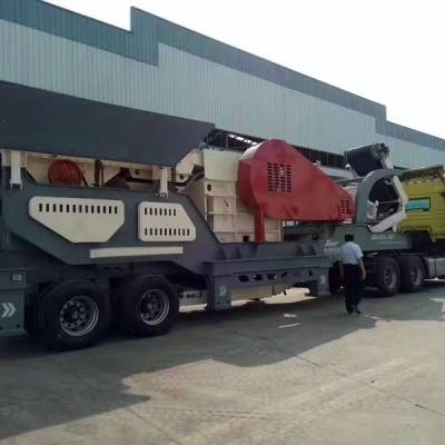 山石破碎站建筑垃圾移动破碎机 新型移动碎石机生产线