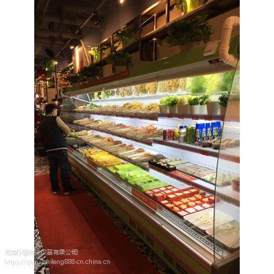 郑州仟曦火锅店用带加湿喷雾功能的风幕柜水果保鲜展示柜厂家直销