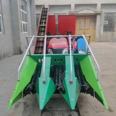 河南两行自走式玉米收割机 大三行玉米收割机可选配打碎秸秆 玉米扒皮机