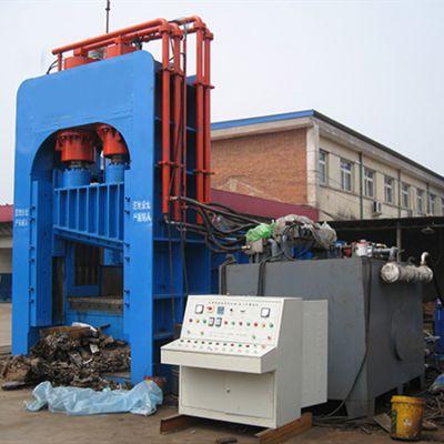 重型废钢剪切机 液压废金属剪切机 龙门液压剪切机带双链条输送