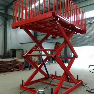 山东航天直供固定剪叉式升降货梯|固定式液压举升机|固定剪刀式装卸货平台|运行平稳