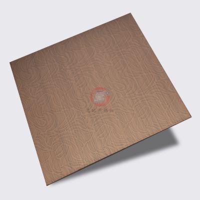 高比酱香型系列_广州红古铜花型拉丝蚀刻不锈钢销售_蚀刻不锈钢水镀古铜色哑光板价格
