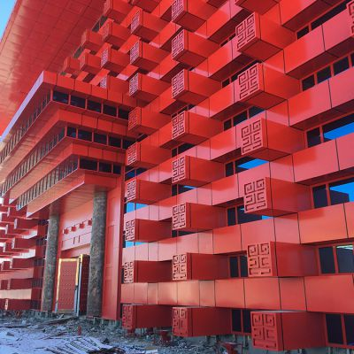 霍尔果斯-中国文化馆(雕花铝单板案例)