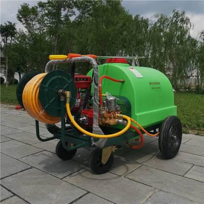 小区绿化降尘除尘喷洒机 小四轮推车式喷药机 大容量果园喷药机
