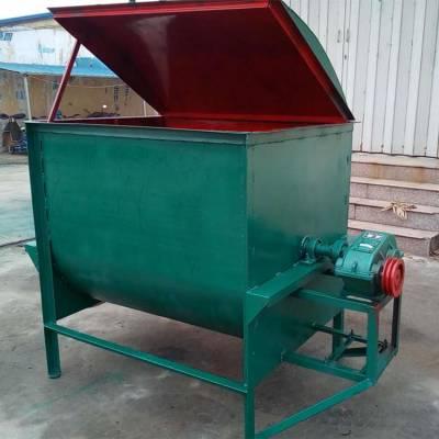 牛饲料混合搅拌机 卧式饲料混合机 出料干净饲养场专用搅拌机