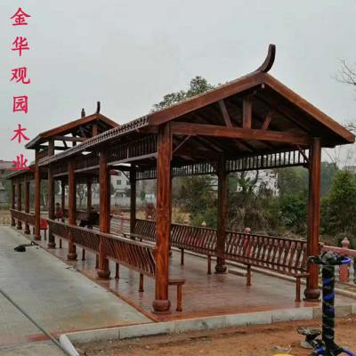 防腐木长廊 仿古长廊 浙江长廊厂家