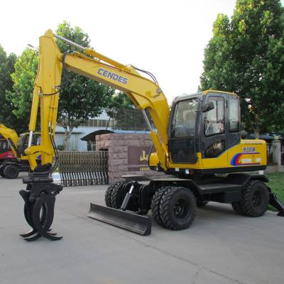新款轮式多功能挖掘抓木器 抓木机 专业制造抓木机厂家 山东恒远机械