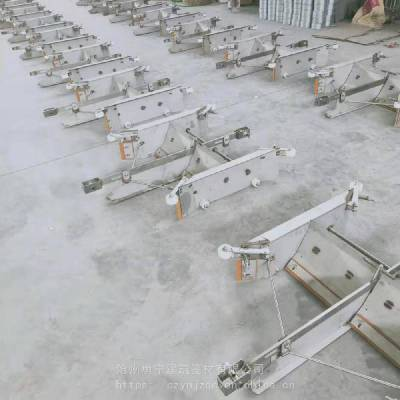 勇宁设备直销不锈钢V型一拖二刮粪机 羊场专用清粪机 操作简单