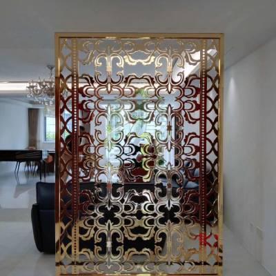福州客厅摆放铝雕刻屏风让家居更美
