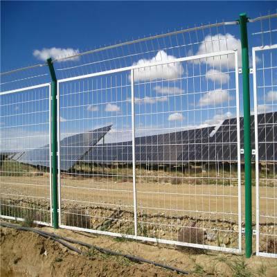 南阳内乡双边丝隔离栅 框架隔离栅 双圈隔离网 三角折弯围栏网 有大量现货