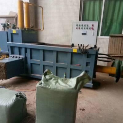 苜蓿皇竹草青贮方捆液压打包机 装袋卧式全自动液压打包机