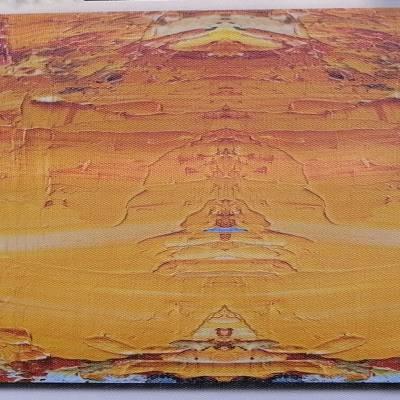 泰贻得背胶油画布弱溶剂化纤背胶油画布装饰画布广告画布1.27*30米