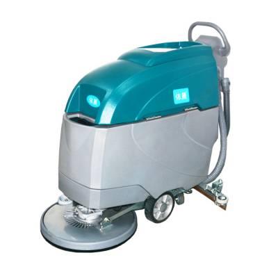 依晨电动洗地机工厂用手推式清洗机,水泥地面大面积清洗擦地机