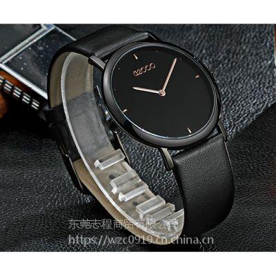 G2000商务手表进口机芯真皮表带超薄