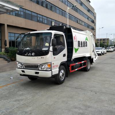 8方江淮压缩垃圾车价格,环卫垃圾车厂家,小型压缩式垃圾车