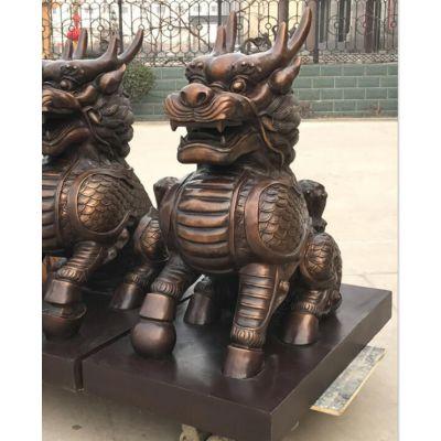 金华铜麒麟-大型铜麒麟雕塑-茂来雕塑(优质商家)