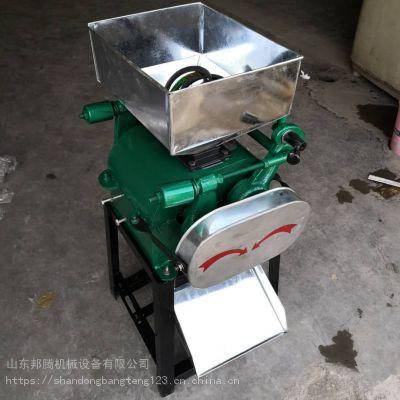 多功能商用五谷杂粮挤扁机 酿酒用玉米高粱破碎机 性能好压扁机