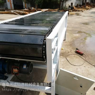 运行平稳板链铁板传送机 面包砖传送用链板机