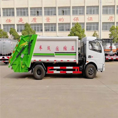 国六东风多利卡5吨压缩式垃圾车厂家 8方垃圾压缩车
