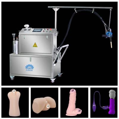 双组份硅胶玩具灌注机,适用液态硅胶注胶-久耐机械