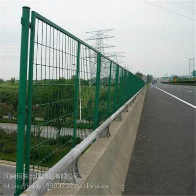池塘果园双边丝围栏网 公路铁路防护隔离网 桥梁防抛网 河南工厂定做