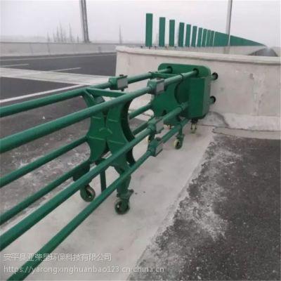 开口护栏定制@河南驻马店预应力活动护栏@高速用隔离带轮栏杆