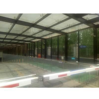 钢结构车库雨棚造价 小区车库雨棚厂家 玻璃地下车库雨棚销售 HH