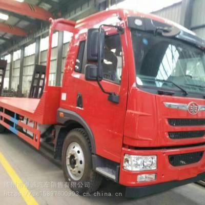 国五150挖机平板拖车 拉150挖掘机拖车