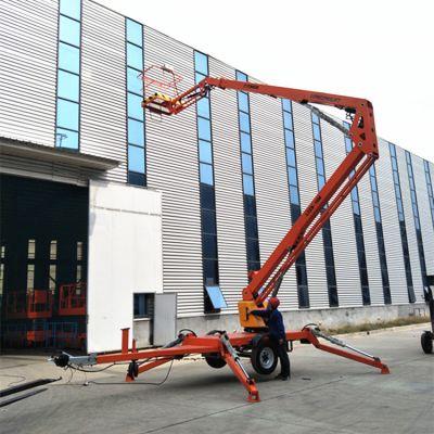 工厂现货批发14米16米折臂式升降机 车载式液压升降平台