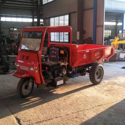 电启动柴油建筑工程车 农用三马子车使用视频 简易棚农用三轮车