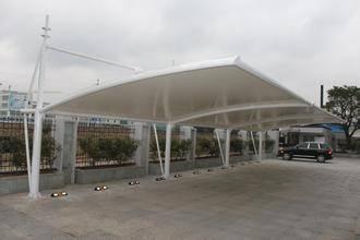 汽车棚-创锦帆装饰膜结构-苏州车棚